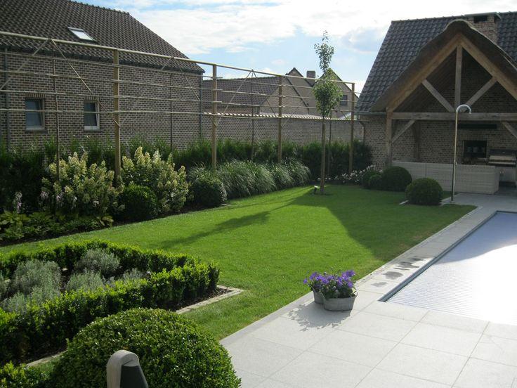 Landelijke tuin poolhouse tuindouche leibomen ideeen voor de tuin pinterest - Moderne landschapsarchitectuur ...