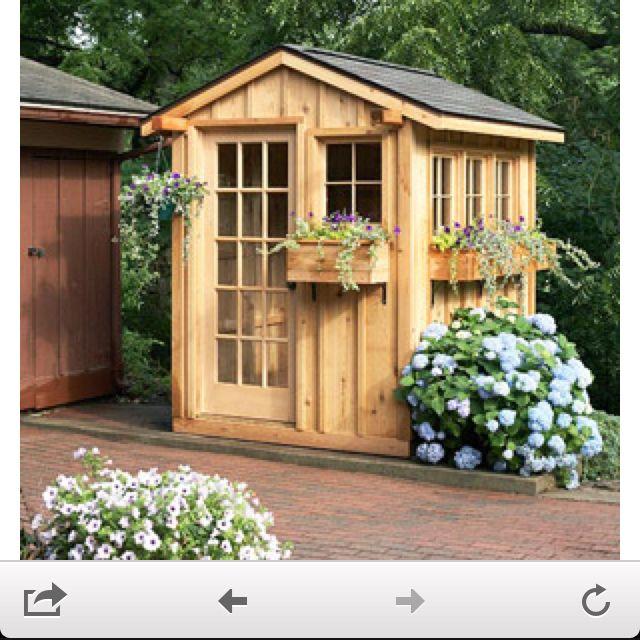 Potting shed garden yard pinterest for Potting shed