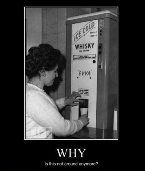 vintage whiskey machine