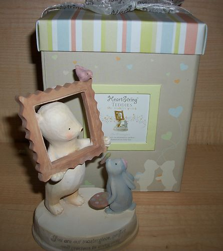 20% OFF COLLECTIBLES!! HEART STRING TEDDIES OUR MASTERPIECE FIGURINE SEAGULL STUDIOS NIB