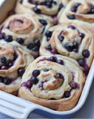Blueberry Lemon Sweet Rolls | sweets | Pinterest