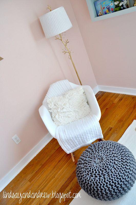 "Gorgeous pink nursery using Benjamin Moore's ""Orchid Pink"""