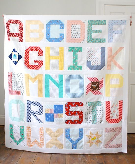 #spellitwithmoda Spell It With Fabric quilt top by MessyJesse