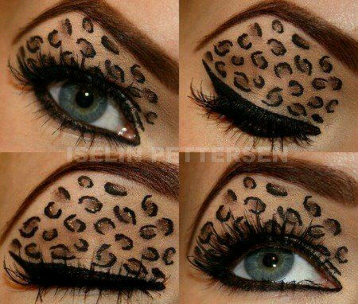 Leopard print makeup | Great ideas