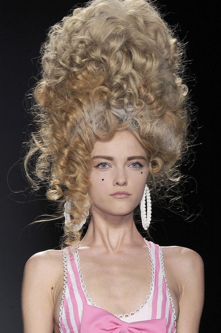 makeup and hair neo-baroque / rococo inspired fashion Pinterest