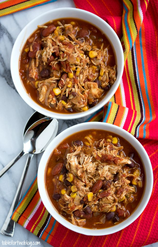 Crockpot Chicken Taco Chili!!! Made this for dinner and WOW it is ...