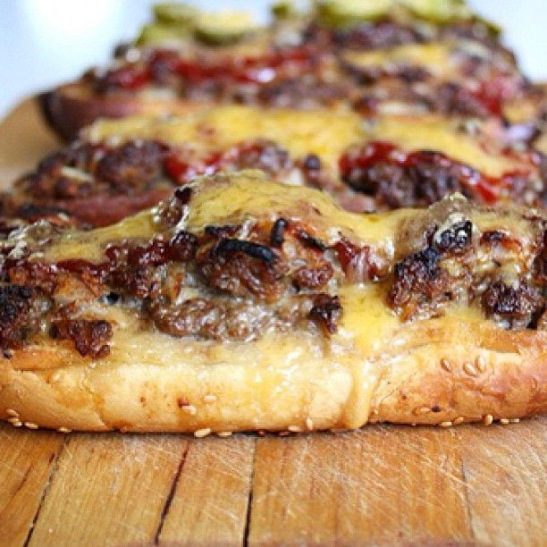 Long Boy Burgers with seasoned ground beef baked in a sub roll with ...