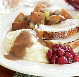Herb-Butter Roasted Turkey with Pinot Noir Gravy | Recipe