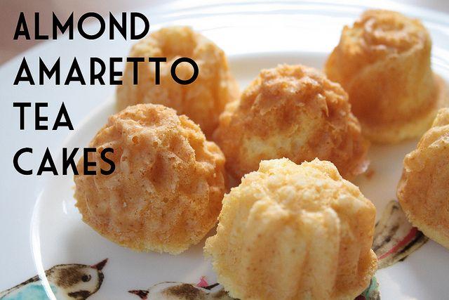 Almond Amaretto Tea Cakes recipe | noms | Pinterest