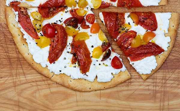 Ricotta and Roasted Tomato Pizza Recipe Main Dishes with pre made ...
