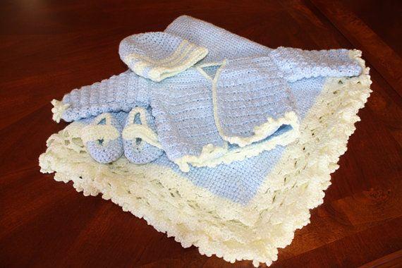 Crochet Patterns Yellow : Venyas Layette - Crochet Pattern by Yellow Rose Patterns
