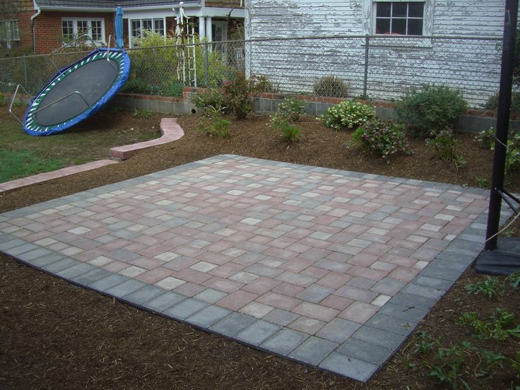 this patio garden is conveniently located in your yard allowing room