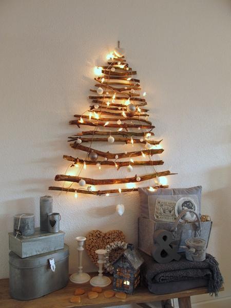 Houten kerstboom lekker leven met minder d gids voor geluk vrijheid en rijkdom - Versieren van een muur in ...