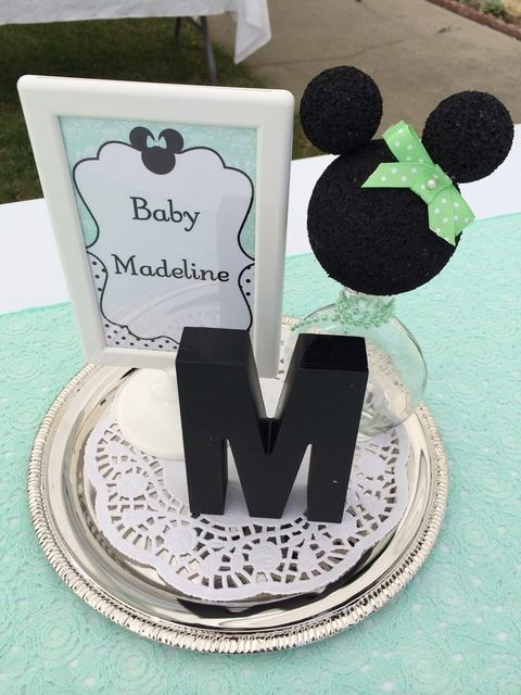 decorations from a minnie mouse baby shower see more party ideas