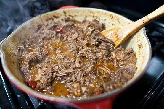 Machaca- mexican beef | delish | Pinterest