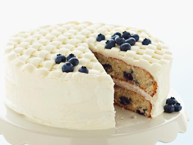 Sandra's White Chocolate and Blueberry Lattice Cake