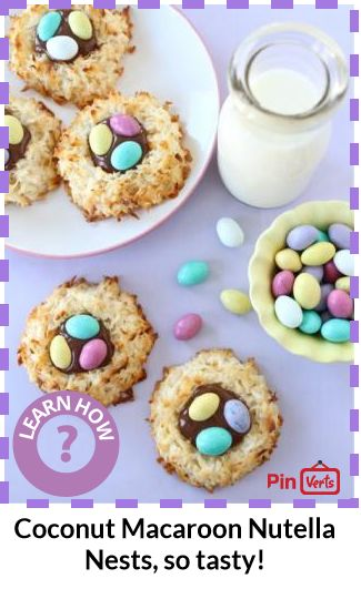 Coconut Macaroon Nutella Nests... Coconut cookie nests filled with ...