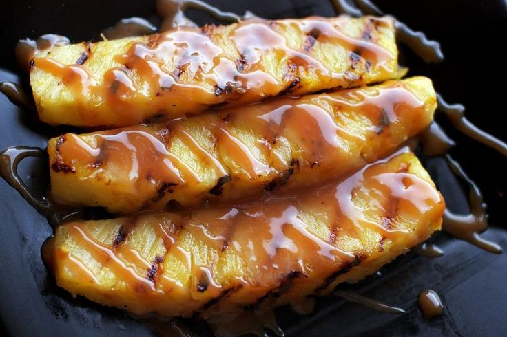 Grilled Pineapple with Rum Laced Dulce De Leche!