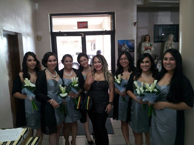 Wedding entourage bridesmaids missing maid of honor did 4 hairstyles ...