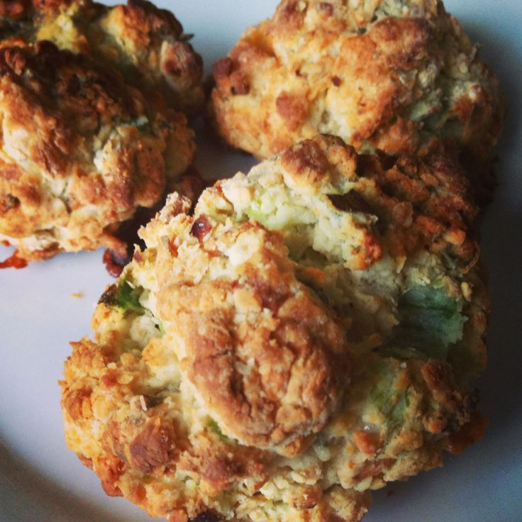 BUTTERMILK BLUE CHEESE AND SCALLION DROP BISCUITS