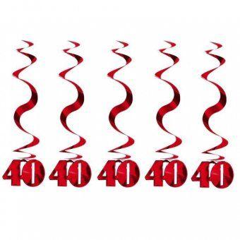 40th Birthday Foil Swirls - 40th Birthday Party Decoration Ideas