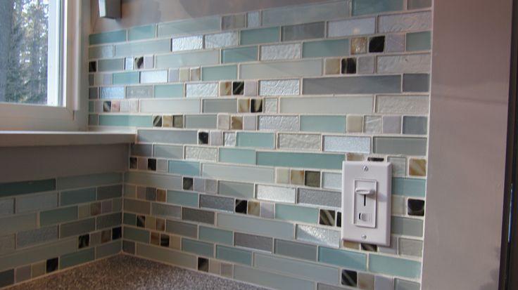teal aqua and stainless tile backsplash susan jablon mosaic tile