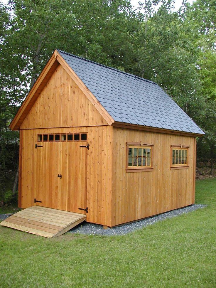 cedar shed garden pinterest