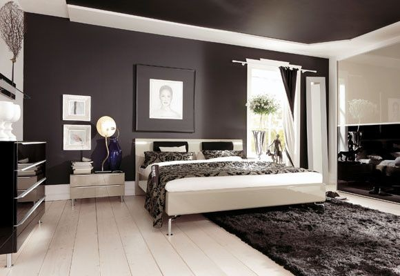 Bedroom Walls And Ceiling Black Paint Pinterest