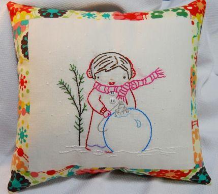cute winter embroidery pattern