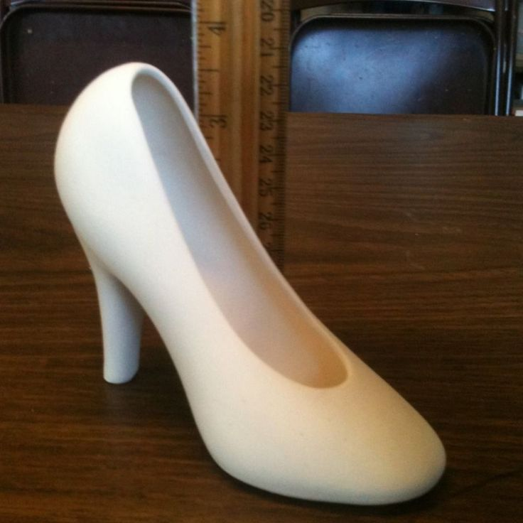 high heel shoe 4 quot ceramic bisque ready to