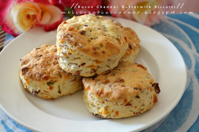 Bacon Cheddar Buttermilk Biscuits! | Food & Drink | Pinterest