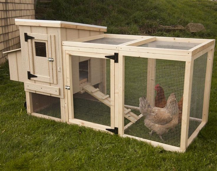 Portable Backyard Chicken Coop Gardening Pinterest