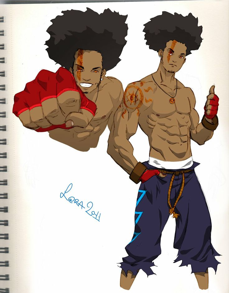 Anime Fight Characters 0 1 : Fighter african anime characters pinterest
