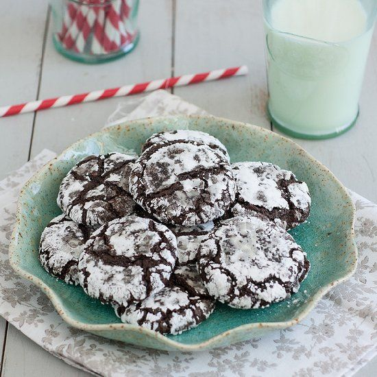 Triple-Chocolate Crinkle Cookies are fudgy, chewy, and seriously ...