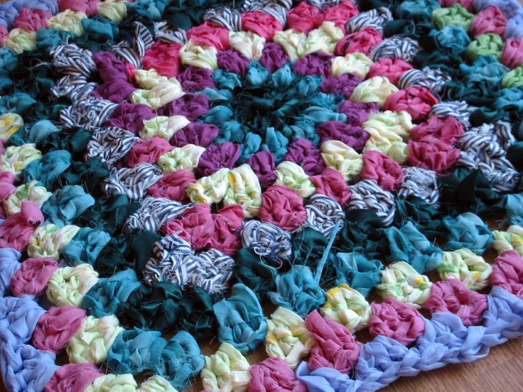 Crocheting A Rug : Crochet Rag Rug Crochet Ideas Pinterest
