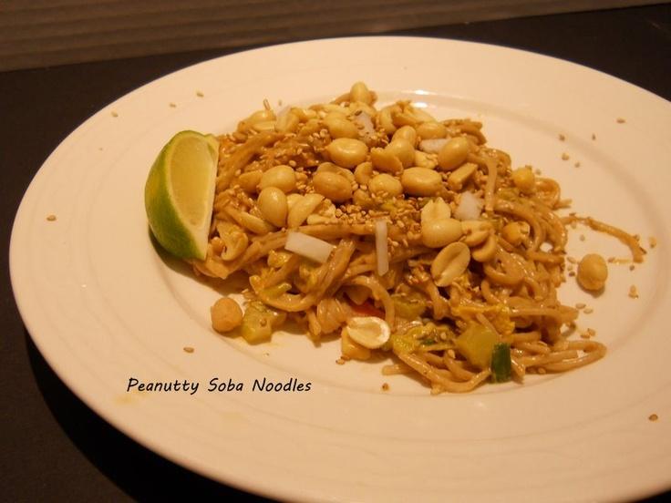 Vegan Peanutty Soba Noodles