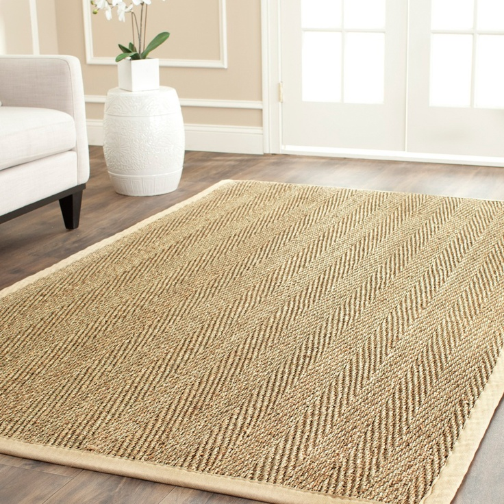 Handwoven casual sisal natural beige seagrass rug 8 39 x 10 39 for Dining room rugs 9x12