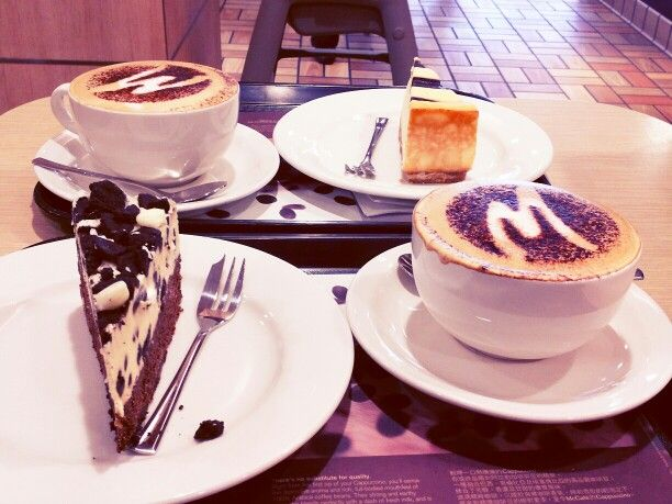 Blueberry cheesecake with cookies & cream and hazelnut coffee only ...
