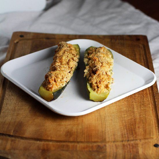 Turkey Stuffed Zucchini | Sous Chef | Pinterest