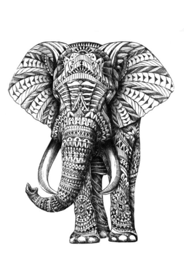 Indian tribal elephant | Tattoos. | Pinterest