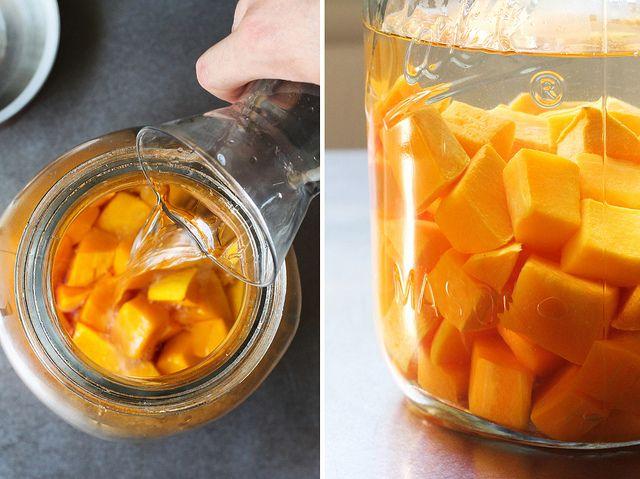 Homemade autumn spiced liqueur