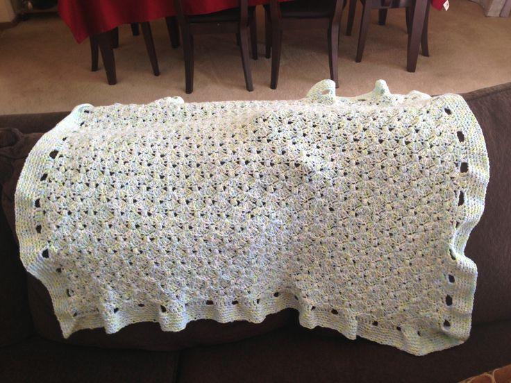 Puffy Crochet Baby Blanket Pattern : Baby blanket. Shell puff crochet pattern Crochet ...