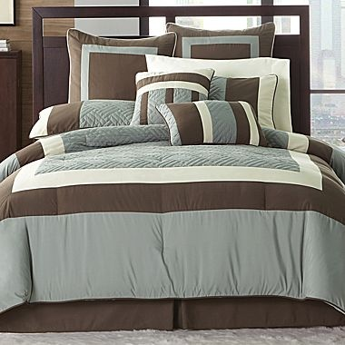 Brown And Blue Bedding Decor Pinterest