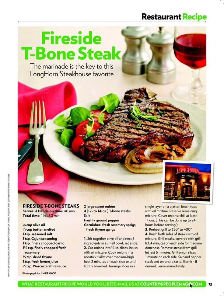 fireside t-bone steaks   Favorite Recipes   Pinterest