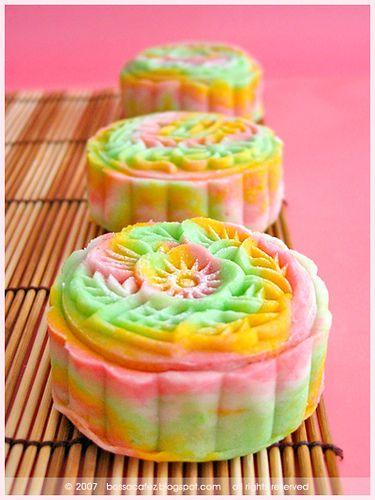 Rainbow Soda Snowskin Mooncakes by bossacafez, via Flickr~mooncakes ...