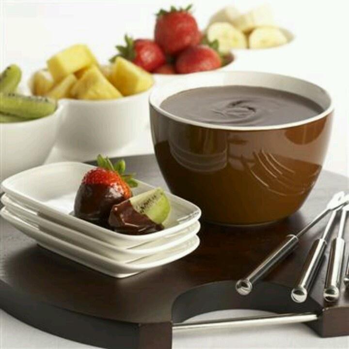 Chocolate Fondue | Fondue | Pinterest