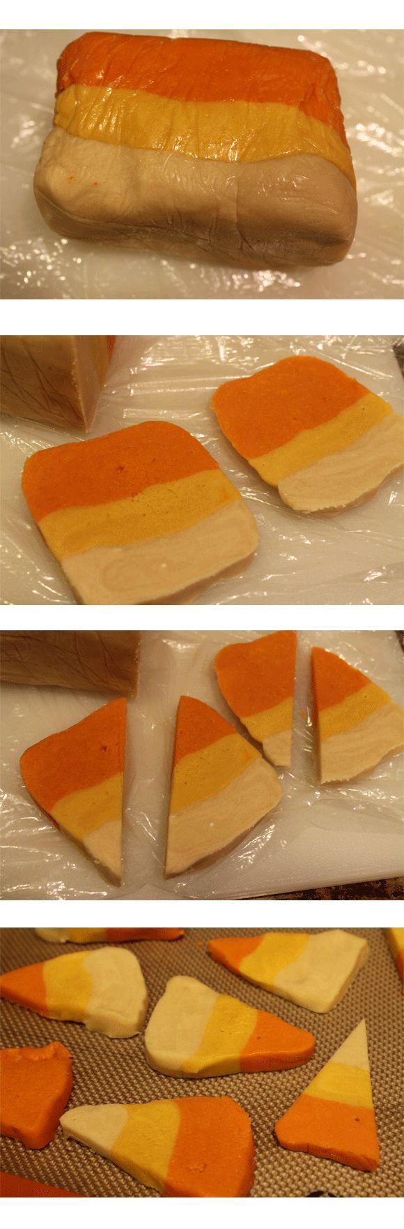 Candy Corn Cookies & Refrigerator Cookies | Recipe
