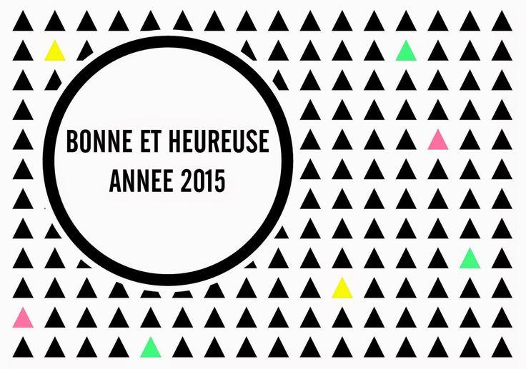 Bonne année 2015! Une carte à télécharger et à imprimer pour la nouvelle année.