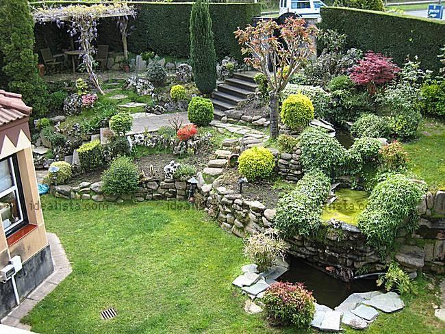 Plantas en escaleras hermosos jardines pinterest for Arboles frutales para jardin