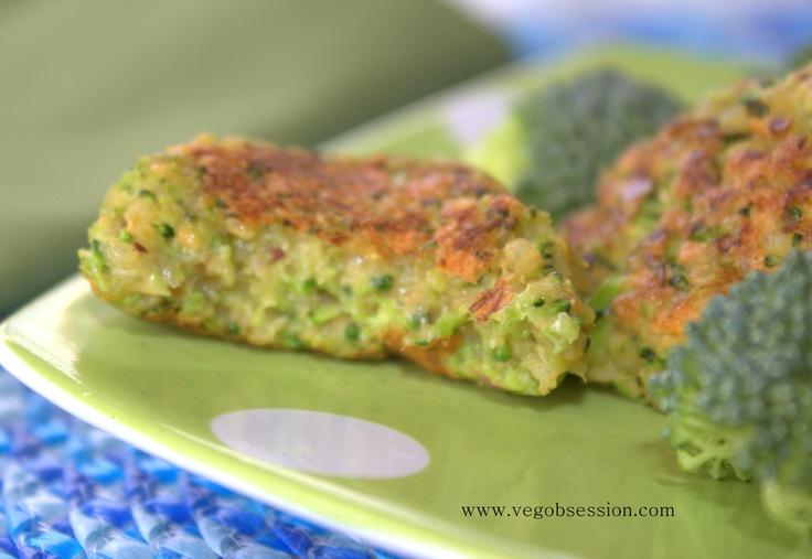 Cheesy Broccoli and Quinoa Bites (Vegan) | Veg Obsession